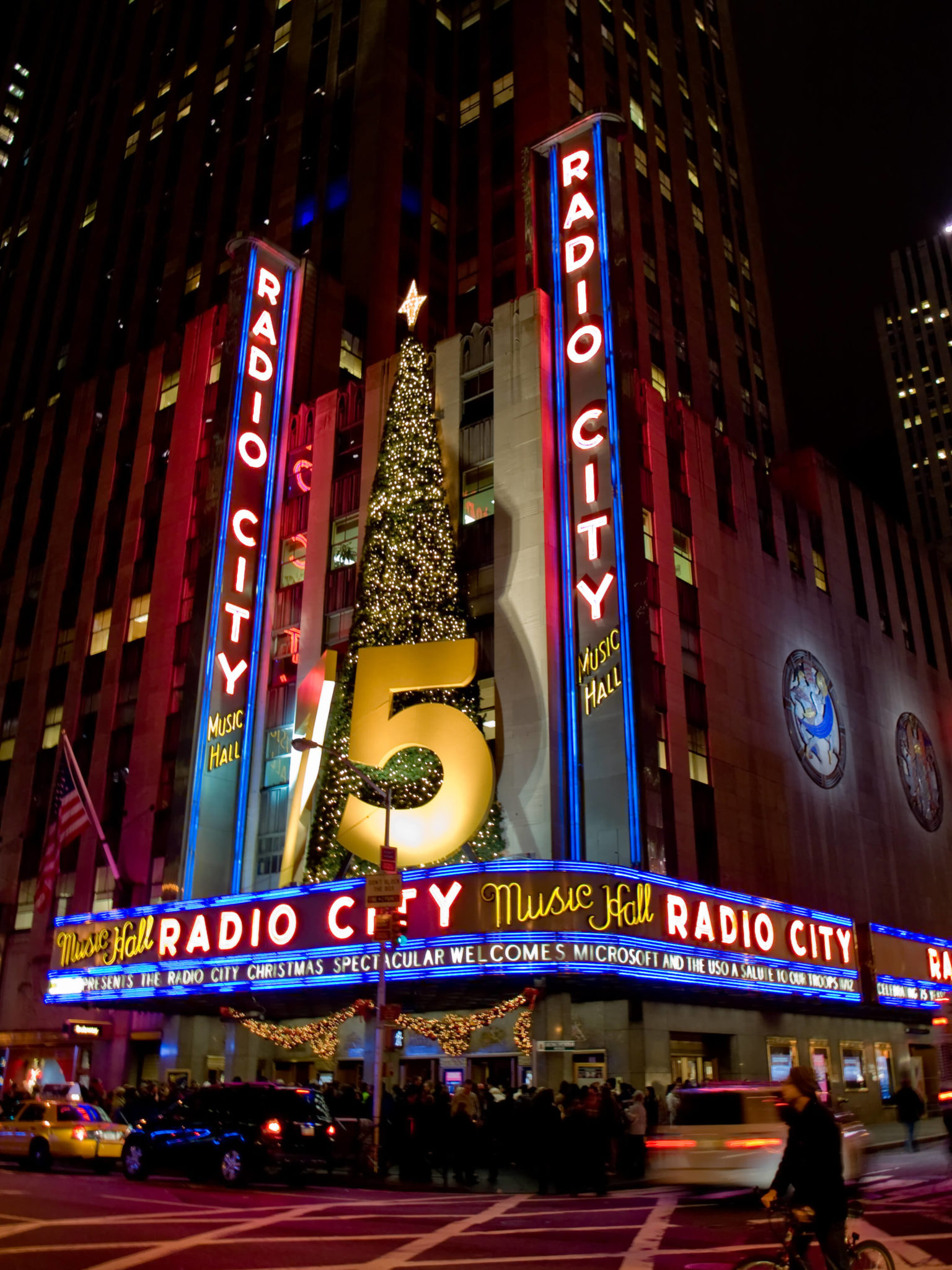 Stunning examples of terrazzo can be found in several lobbies of the Radio City Music Hall in New York City.