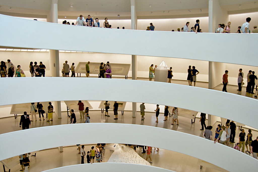 Stunning examples of terrazzo can be found in the Frank Lloyd Wright-designed Guggenheim Museum in New York City.