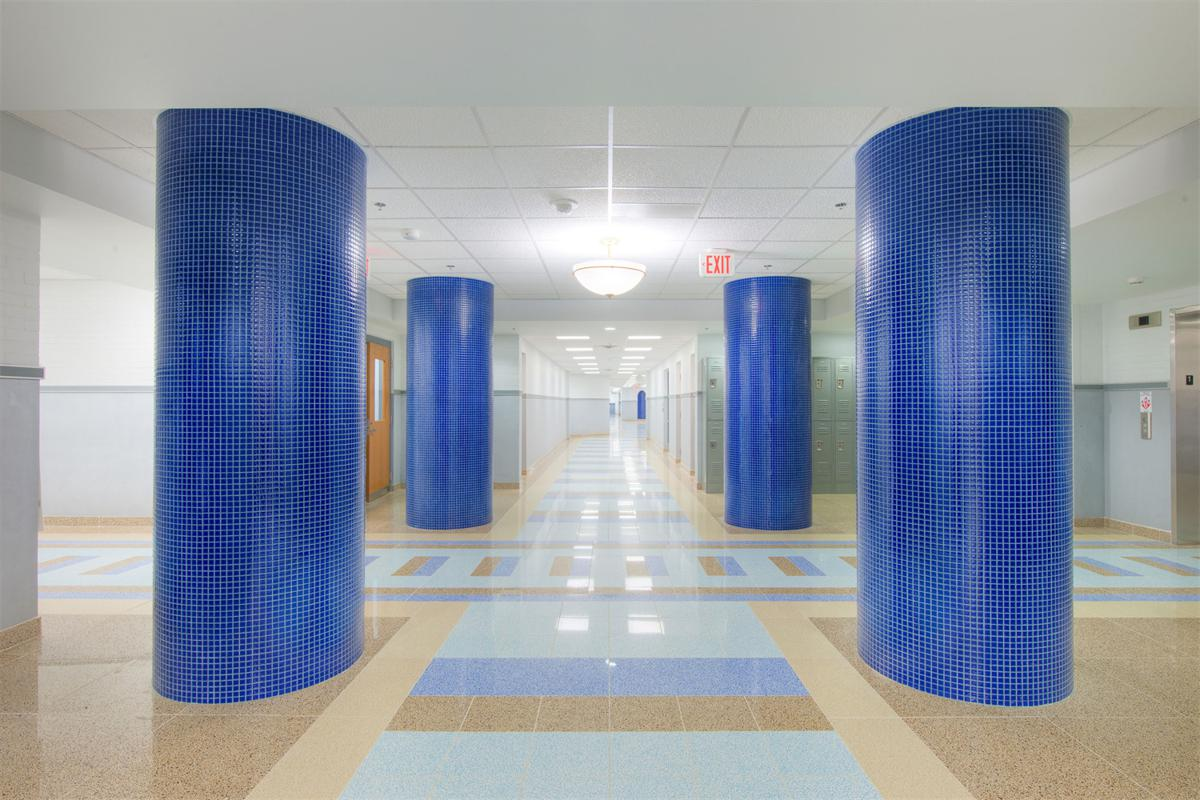 Trend Terrazzo Origina Flooring, Wheatley Elementary Educational Campus, Washington, DC USA